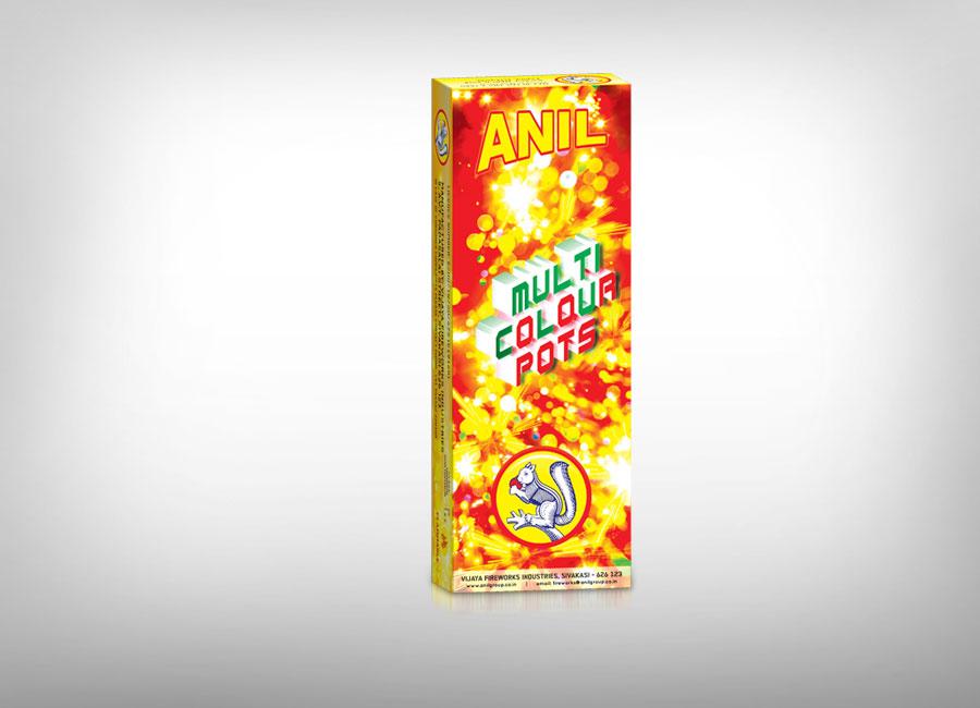 Anil Flower Pots - Multicolor